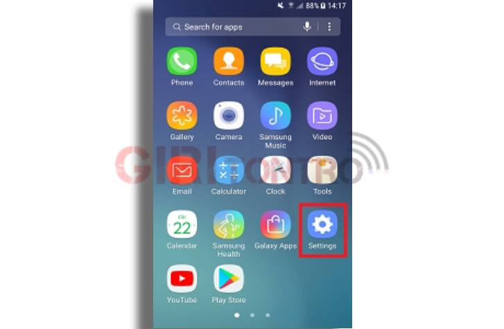 Setting NFC Samsung